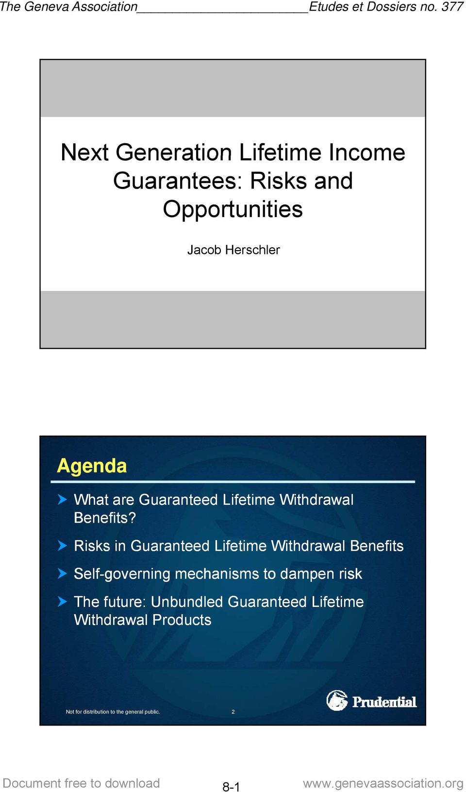Risks in Guaranteed Lifetime Withdrawal Benefits Self-governing mechanisms