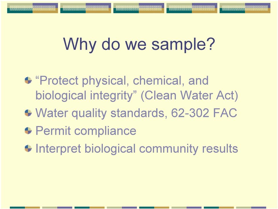 integrity (Clean Water Act) Water quality