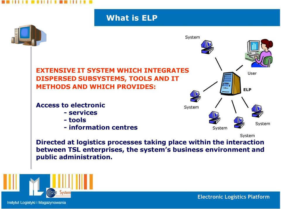 System System Directed at logistics processes taking place within the interaction between TSL