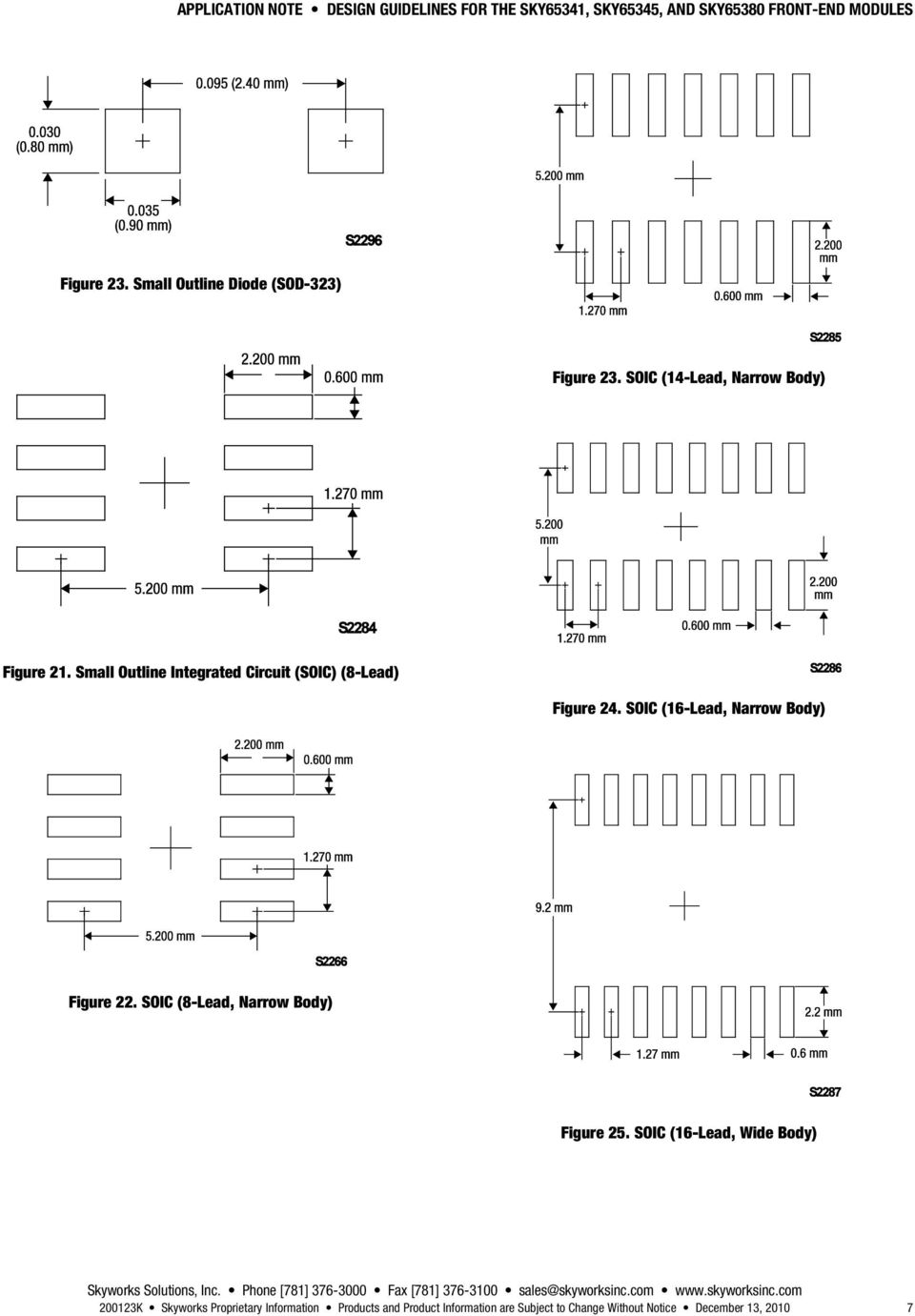 Small Outline Integrated Circuit (SOIC) (8-Lead) Figure 24. SOIC (16-Lead, Narrow Body) Figure 22.