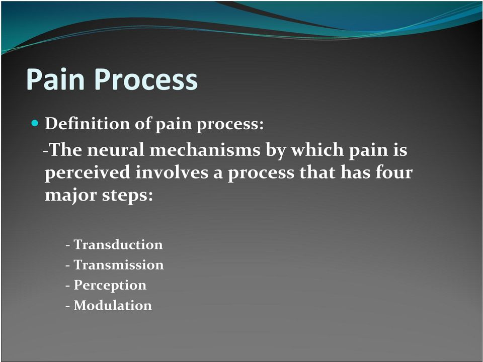 involves a process that has four major steps: