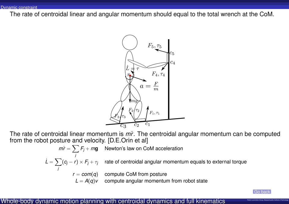 The centroidal angular momentum can be computed from the robot posture and velocity. [D.E.