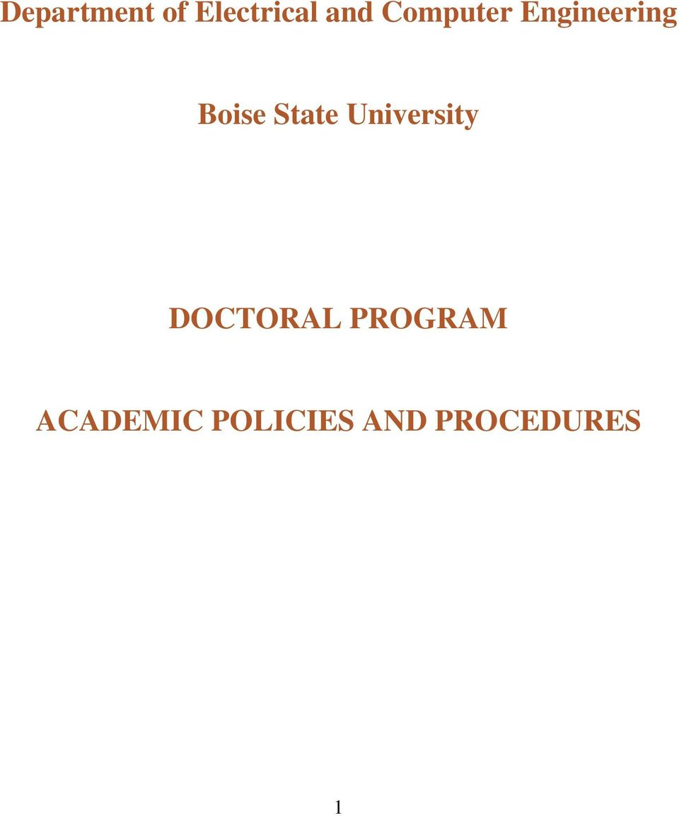 State University DOCTORAL