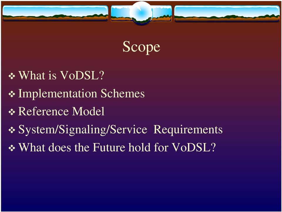 Model System/Signaling/Service