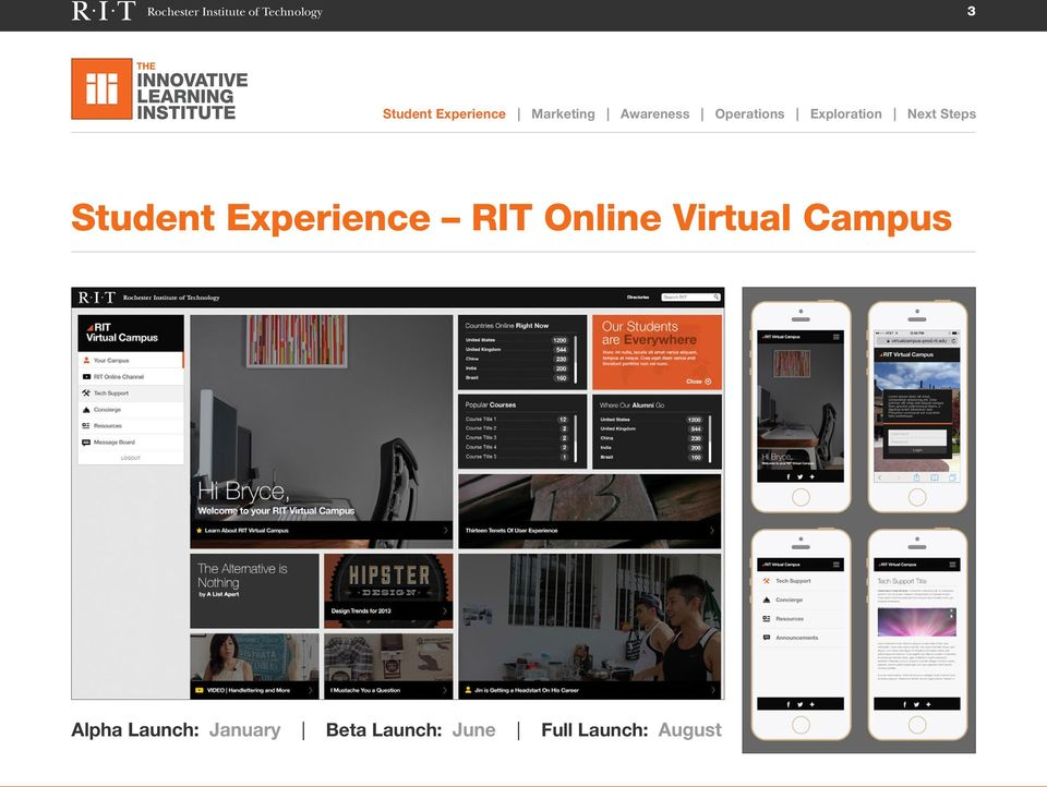 Virtual Campus Alpha Launch: