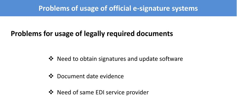 documnts Nd to obtain signaturs and updat