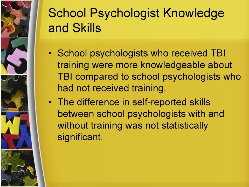who had not received training.
