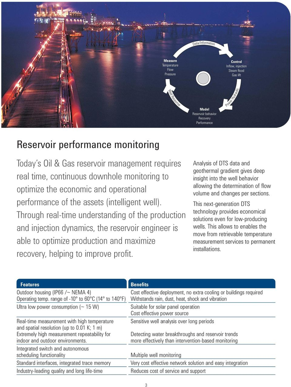 Through real-time understanding of the production and injection dynamics, the reservoir engineer is able to optimize production and maximize recovery, helping to improve profit.