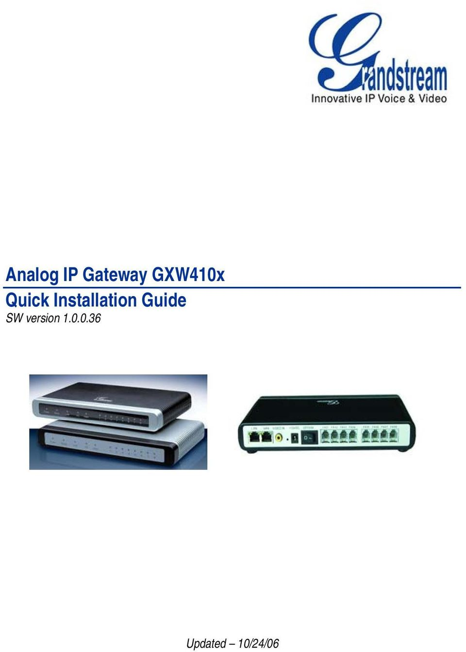 Installation Guide SW