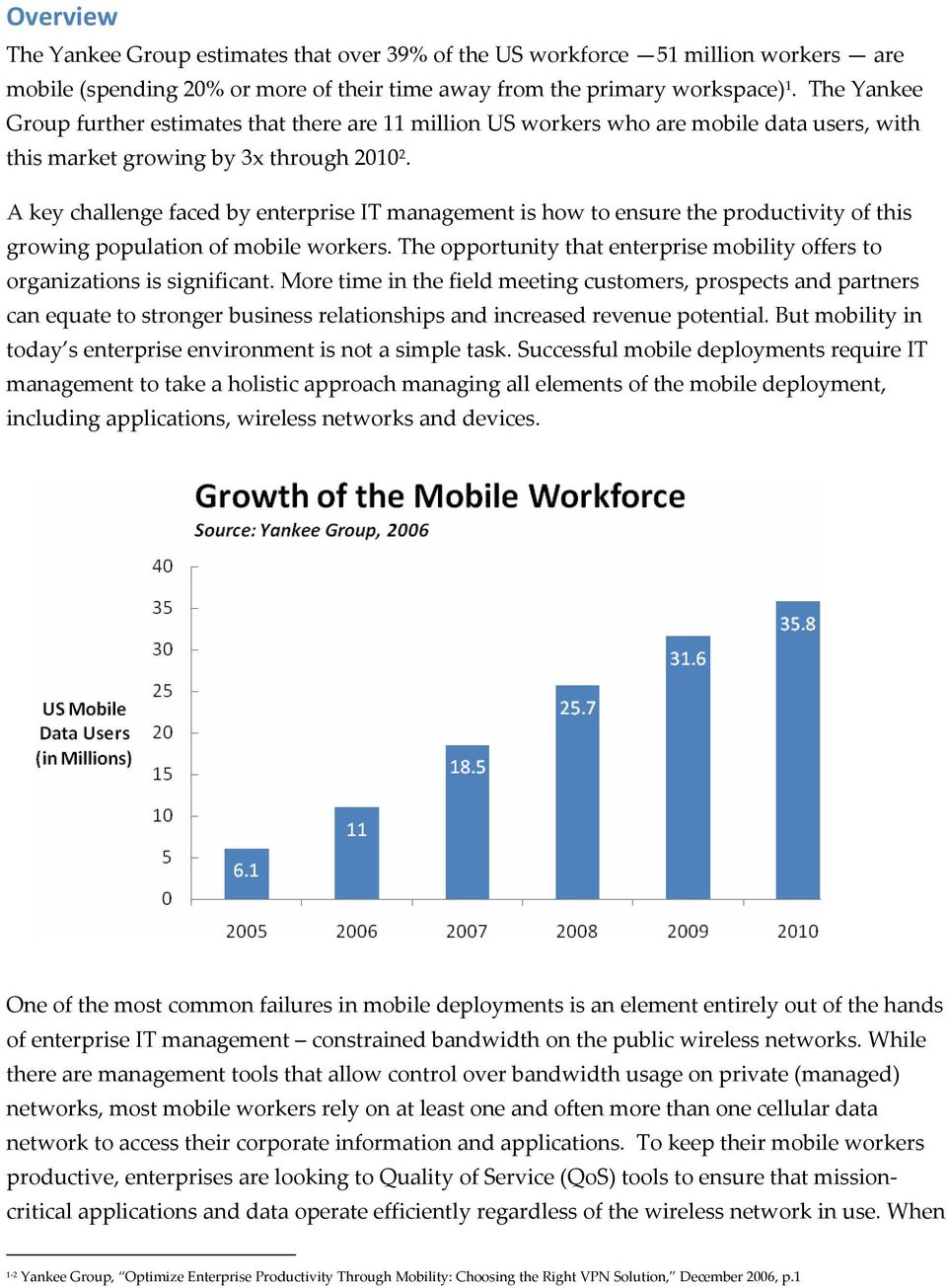 A key challenge faced by enterprise IT management is how to ensure the productivity of this growing population of mobile workers.