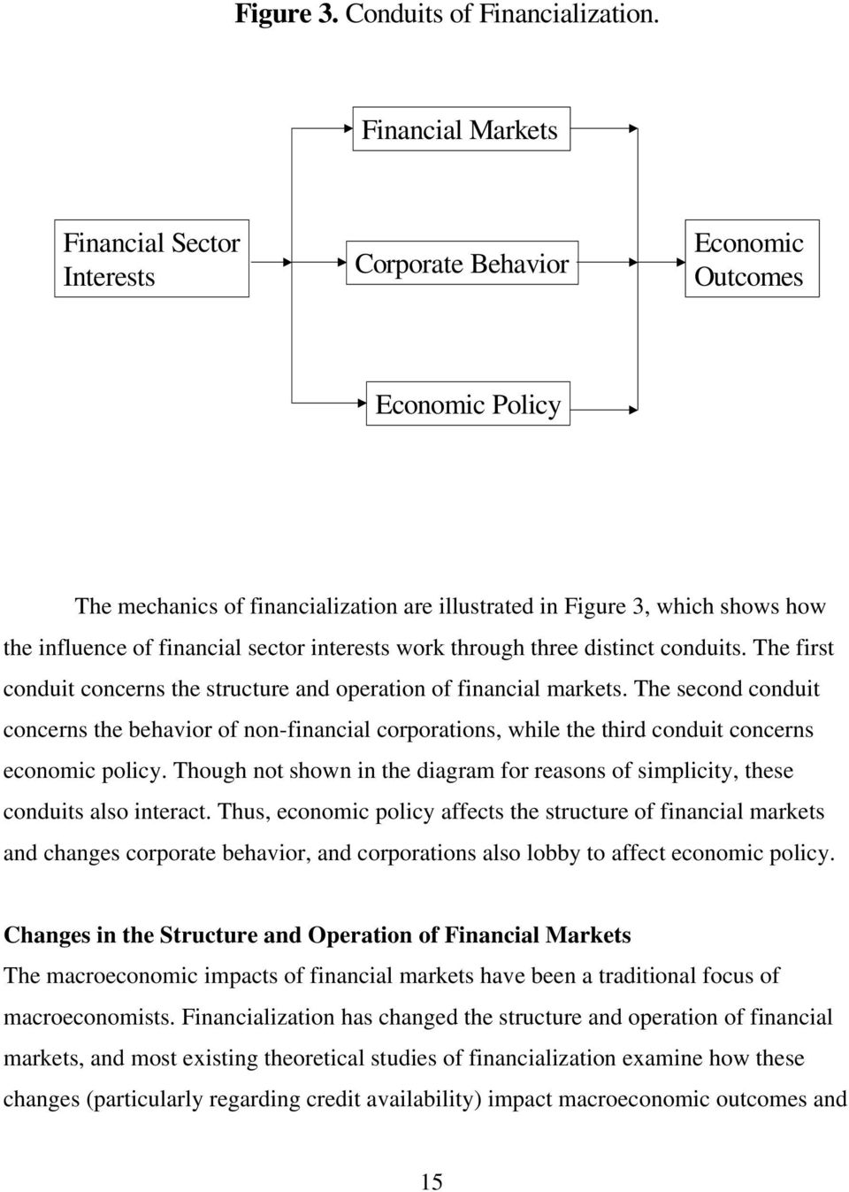 financial sector interests work through three distinct conduits. The first conduit concerns the structure and operation of financial markets.