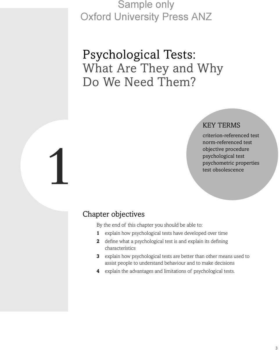 Psychological test for determining the important in life