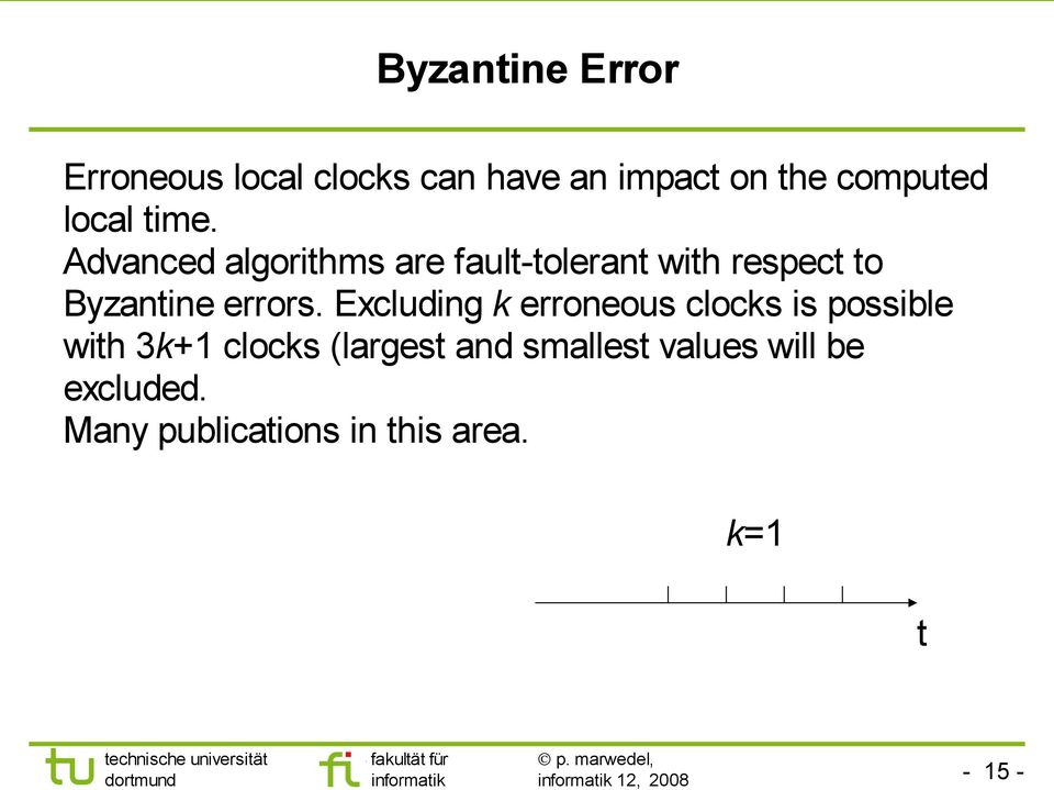 Advanced algorithms are fault-tolerant with respect to Byzantine errors.