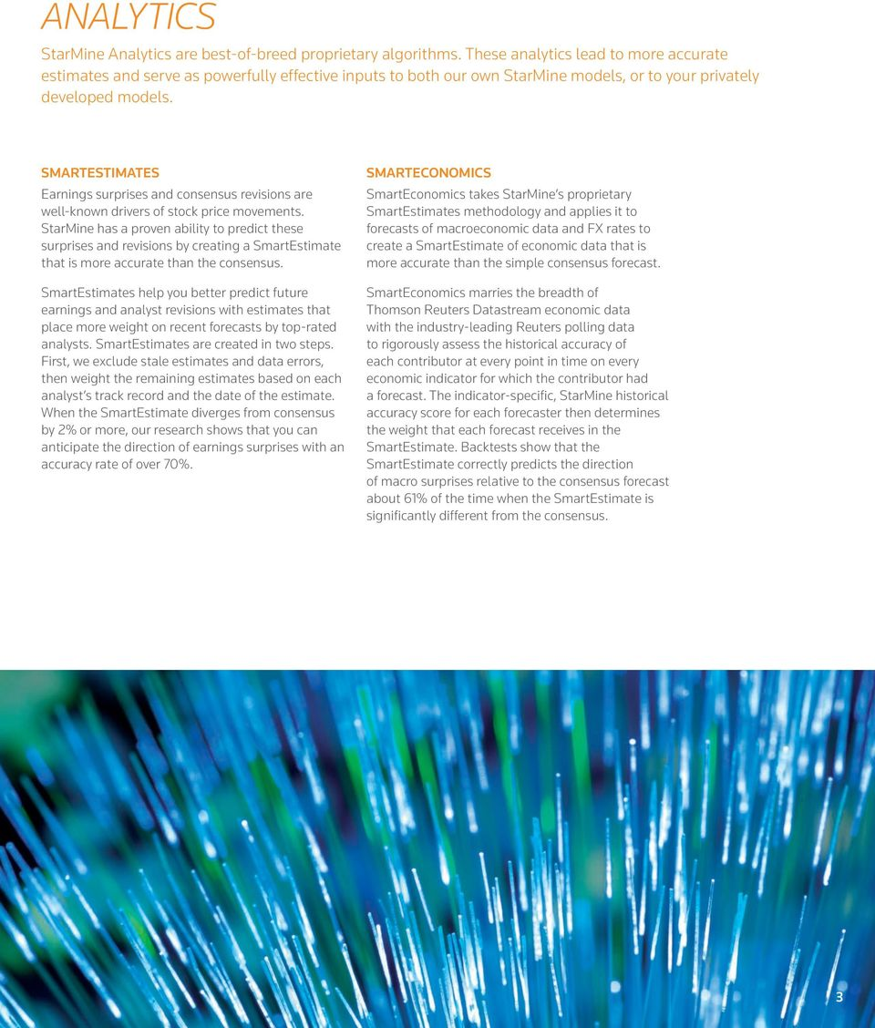 THOMSON REUTERS STARMINE QUANTITATIVE ANALYTICS - PDF