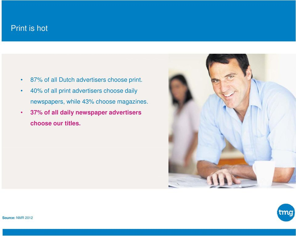 40% of all print advertisers choose daily newspapers,