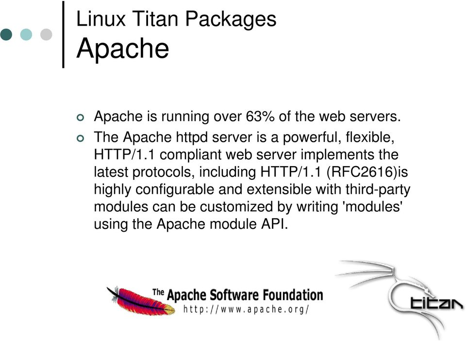 1 compliant web server implements the latest protocols, including HTTP/1.