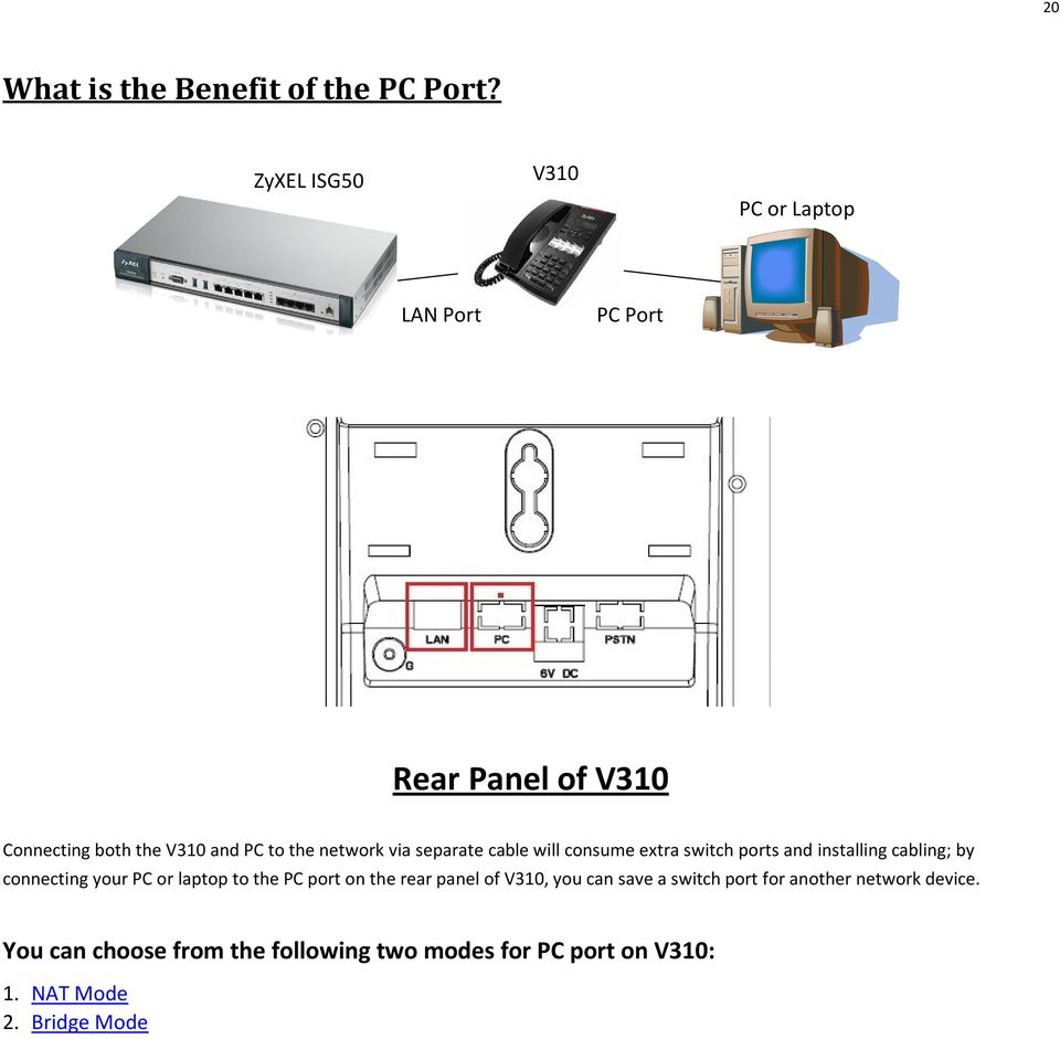network via separate cable will consume extra switch ports and installing cabling; by connecting your PC or