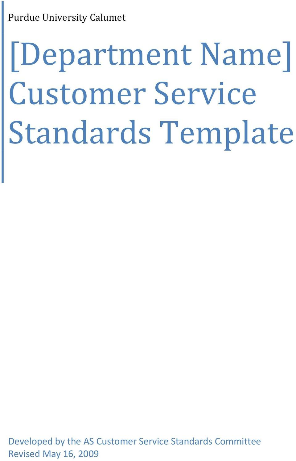 Template Developed by the AS Customer