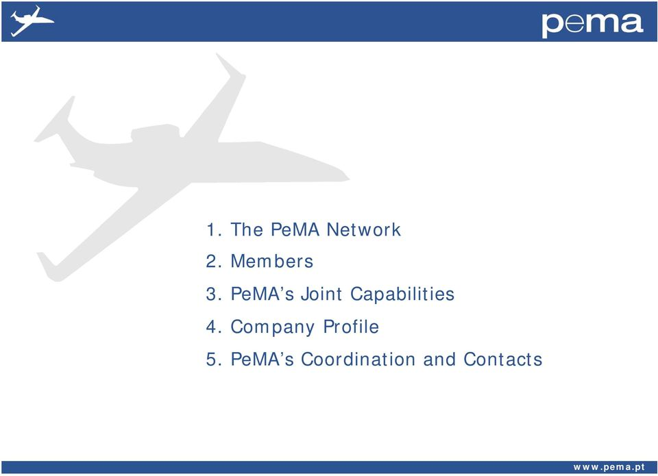 PeMA s Joint Capabilities