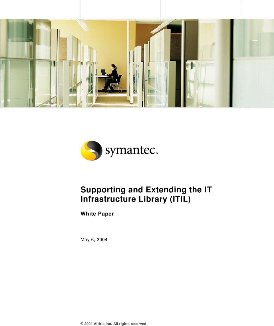 (ITIL) White Paper May 6, 2004