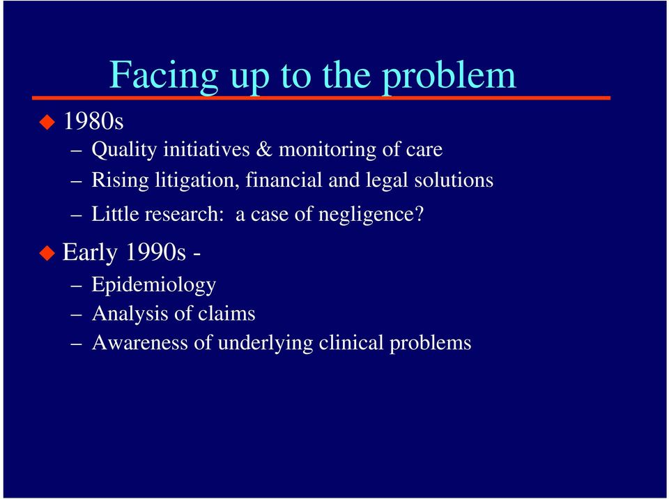 solutions Little research: a case of negligence?