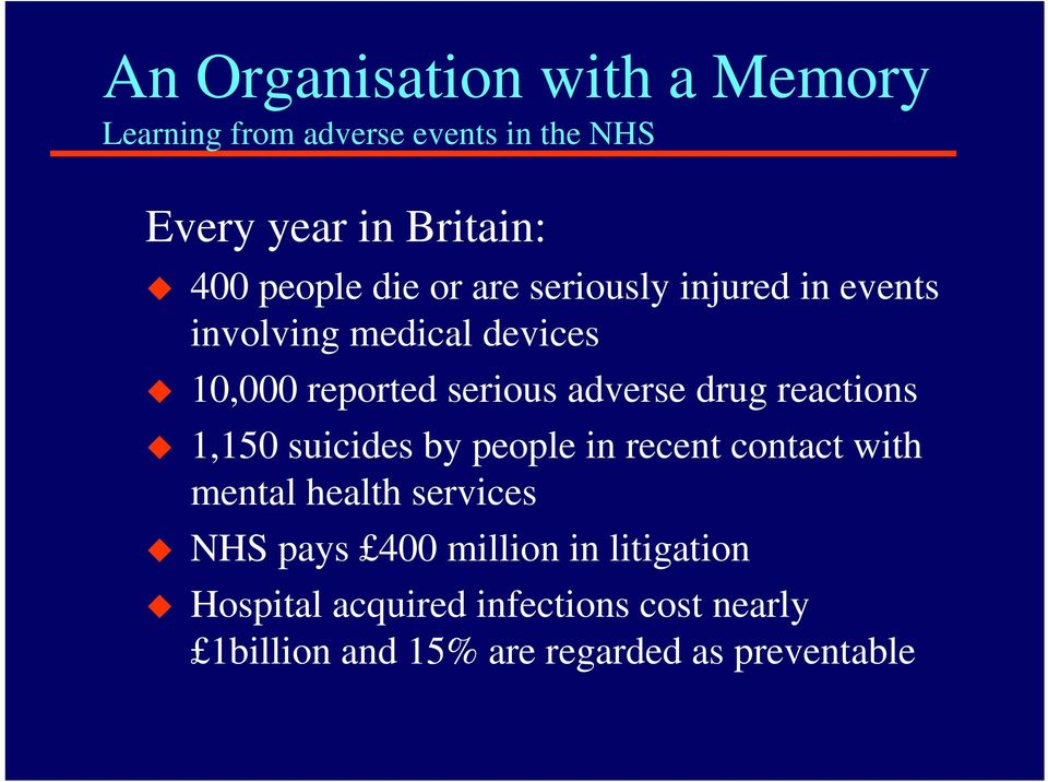 adverse drug reactions 1,150 suicides by people in recent contact with mental health services NHS