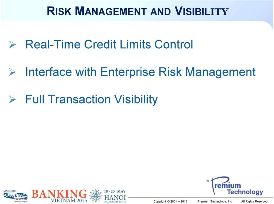 Interface with Enterprise Risk