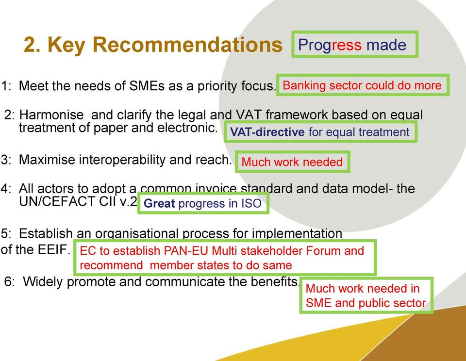 VAT-directive for equal treatment 3: Maximise interoperability and reach.
