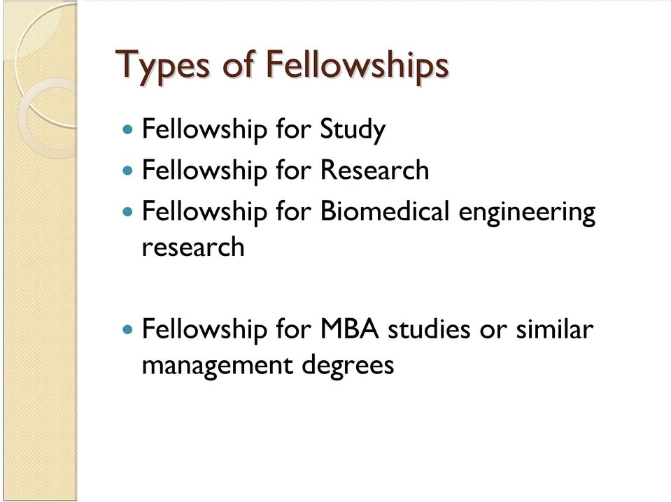 Biomedical engineering research Fellowship