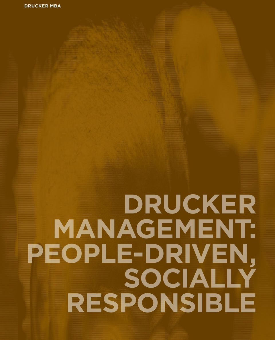 MANAGEMENT: PEOPLE-DRIVEN,