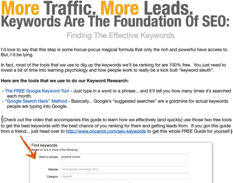 In fact, most of the tools that we use to dig up the keywords we ll be ranking for are 100% free.