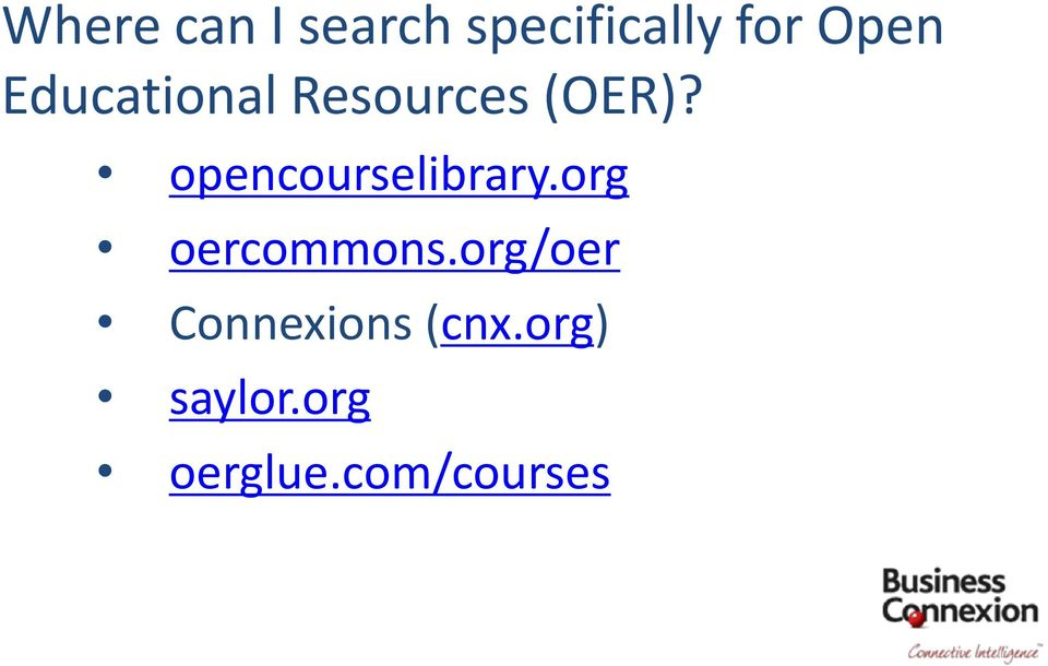 opencourselibrary.org oercommons.