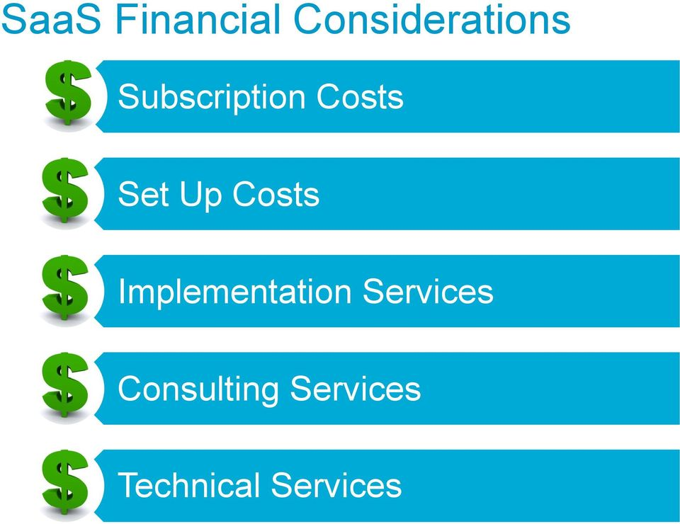 Costs Implementation Services