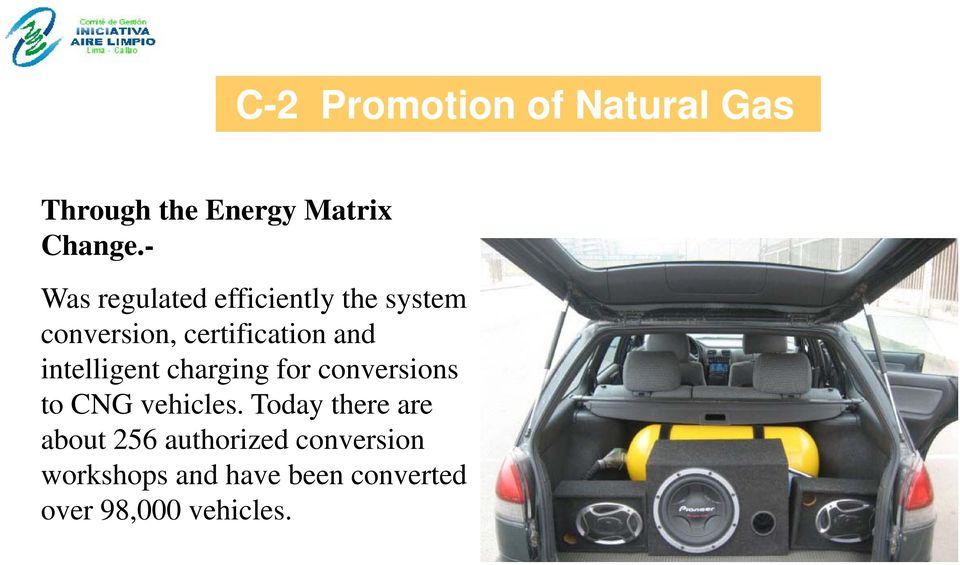 intelligent charging gfor conversions to CNG vehicles.