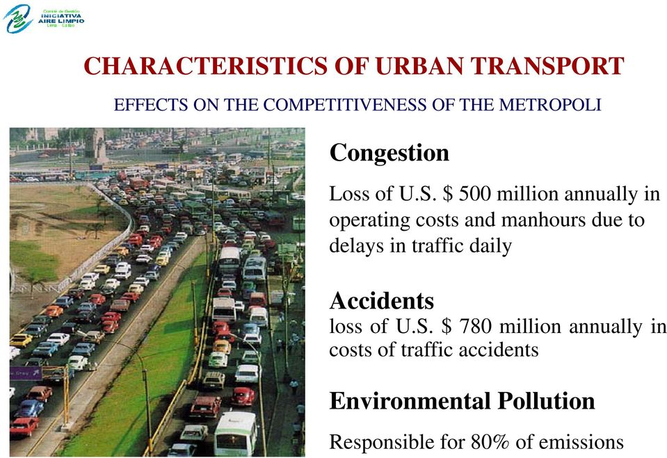 $ 500 million annually in operating costs and manhours due to delays in traffic