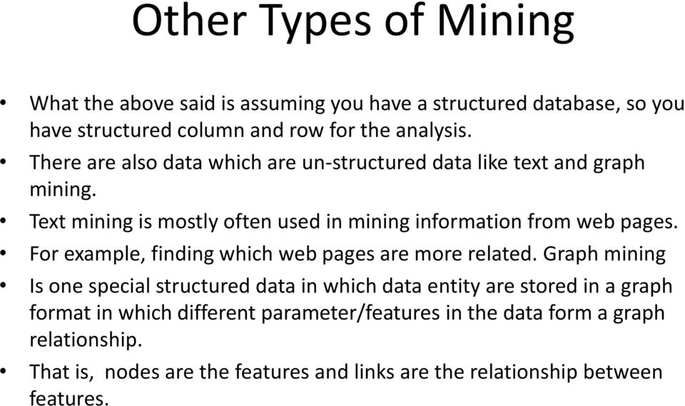 For example, finding which web pages are more related.