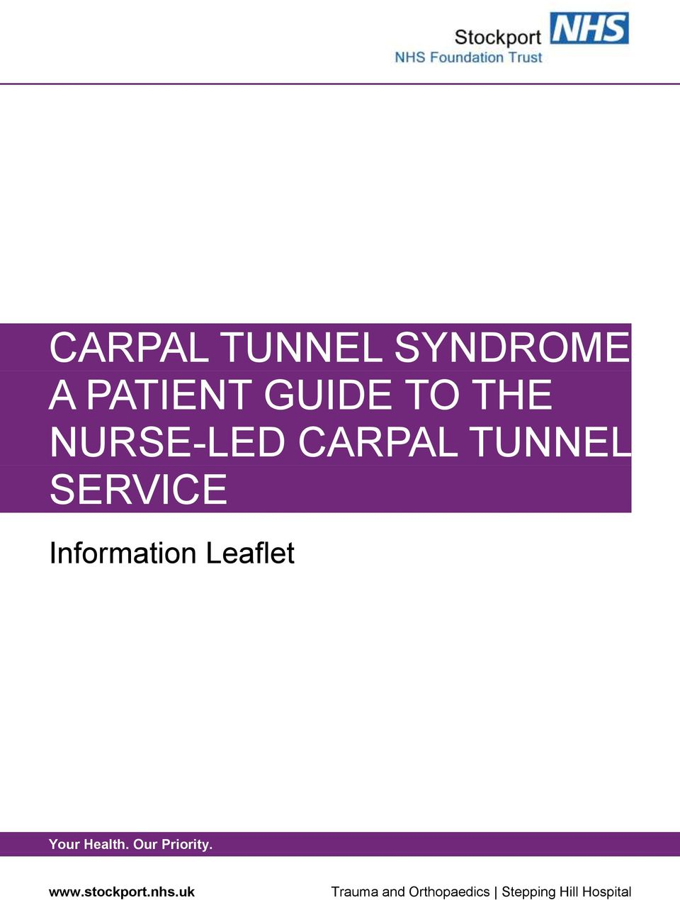 CARPAL TUNNEL SERVICE