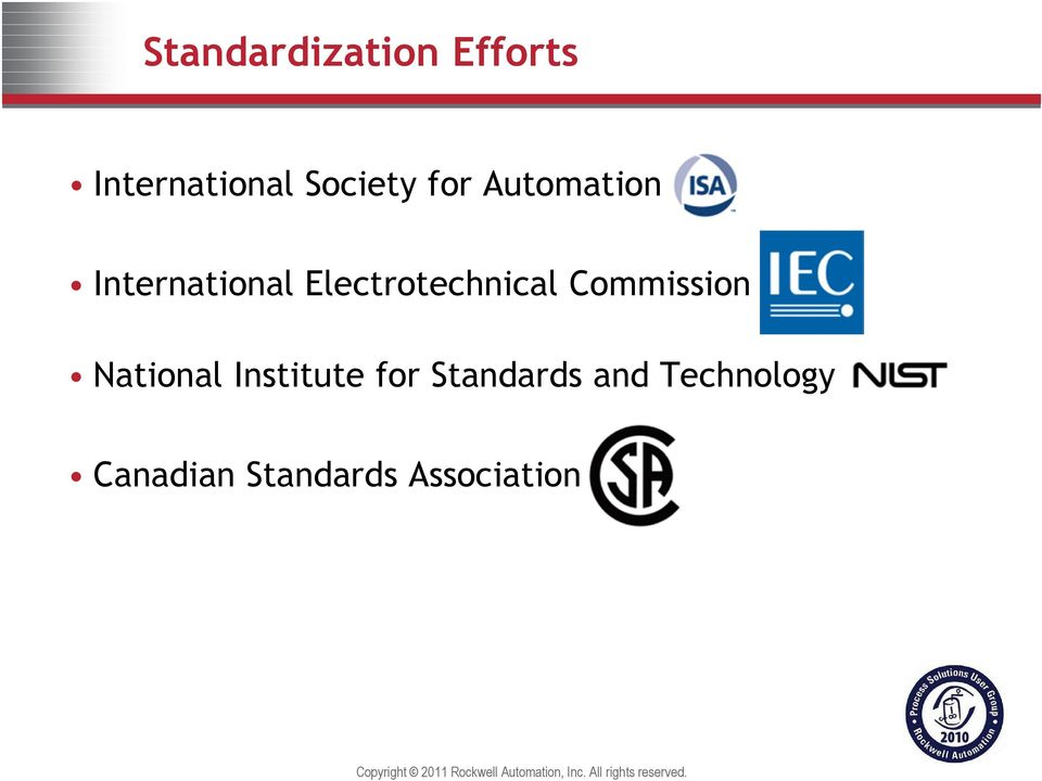 Commission National Institute for Standards