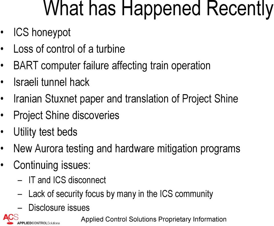 Shine Project Shine discoveries Utility test beds New Aurora testing and hardware mitigation