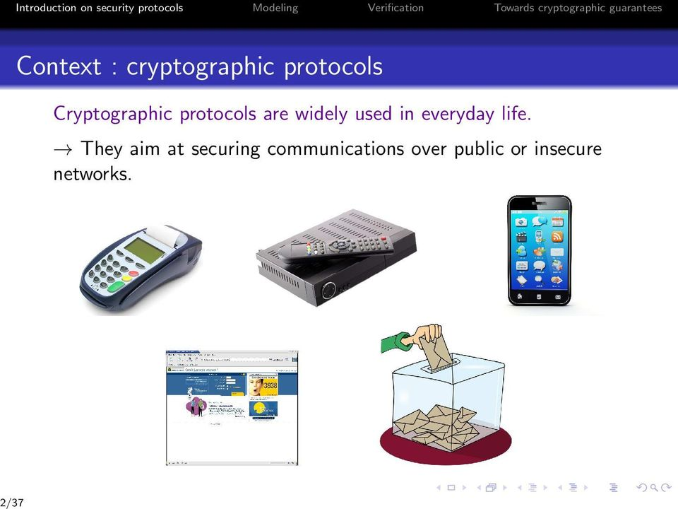 protocols Cryptographic protocols are widely used in everyday