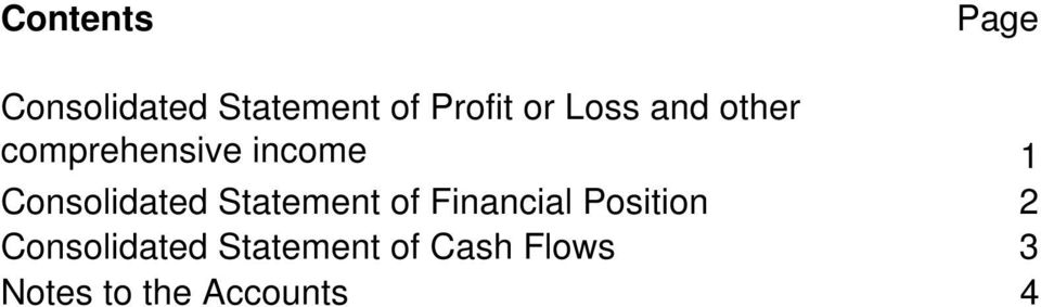 Consolidated Statement of Financial Position 2