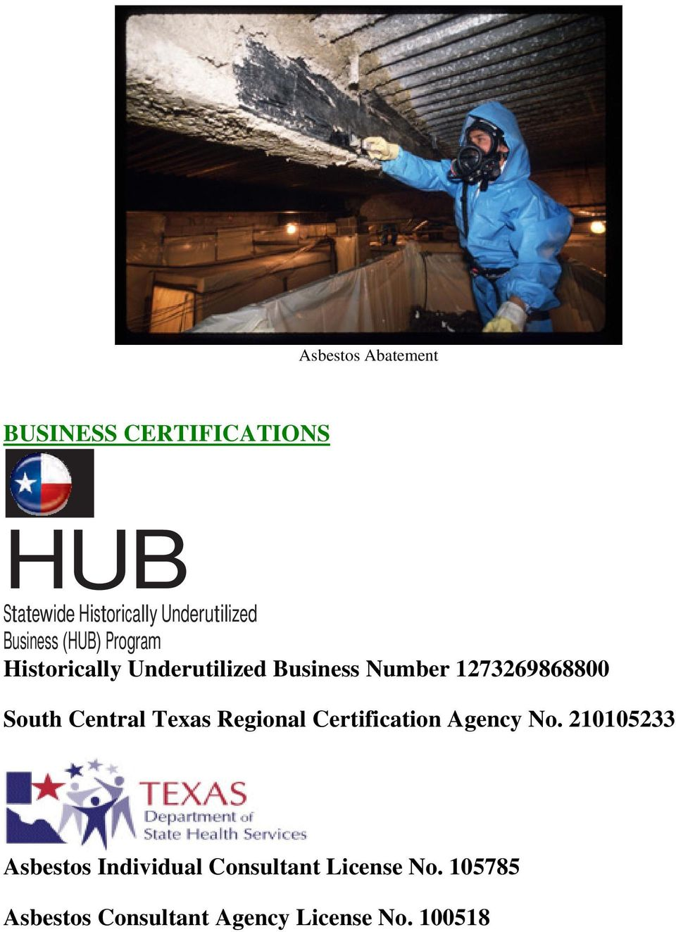 1273269868800 South Central Texas Regional Certification Agency No.
