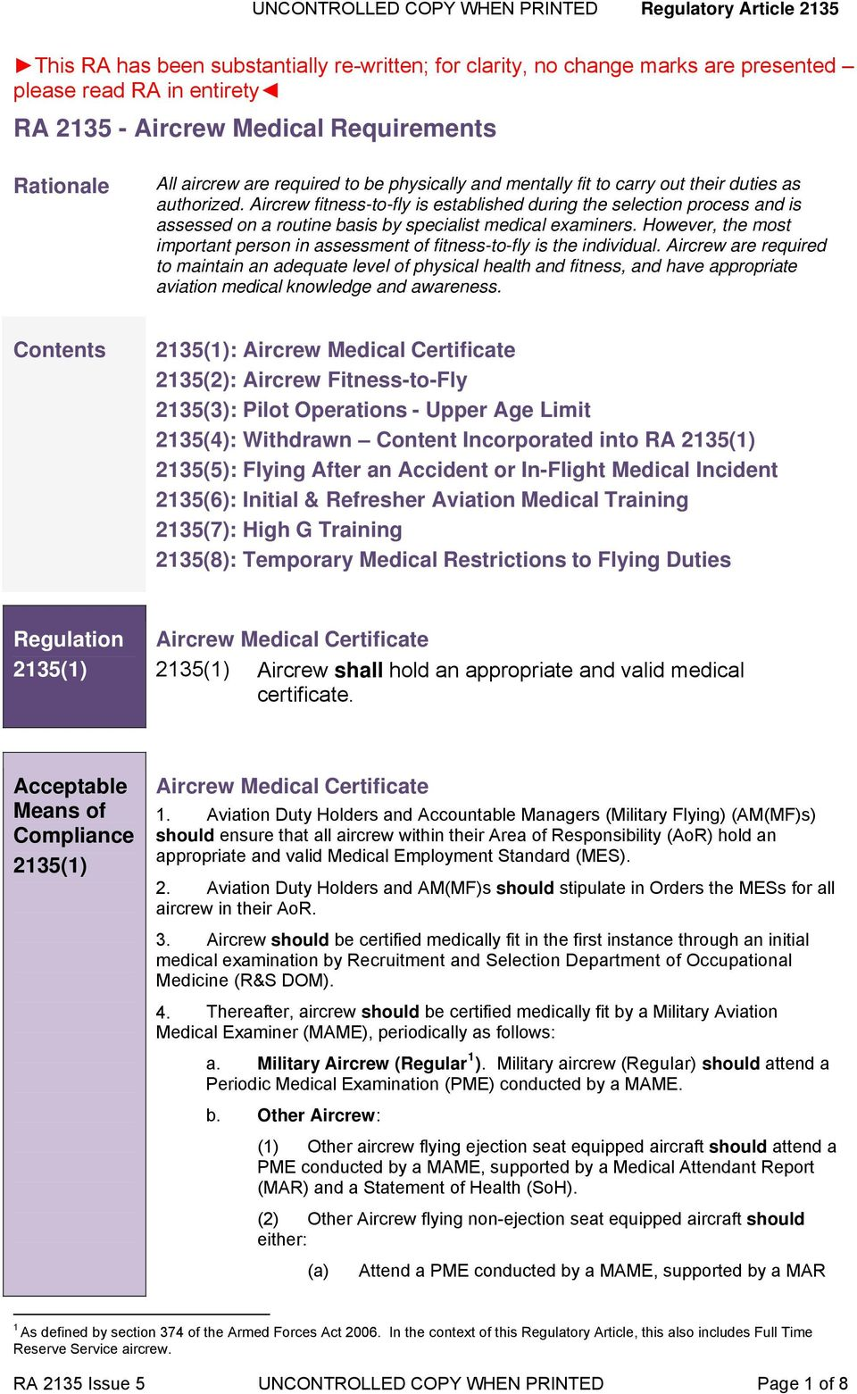 Ra Aircrew Medical Requirements Pdf