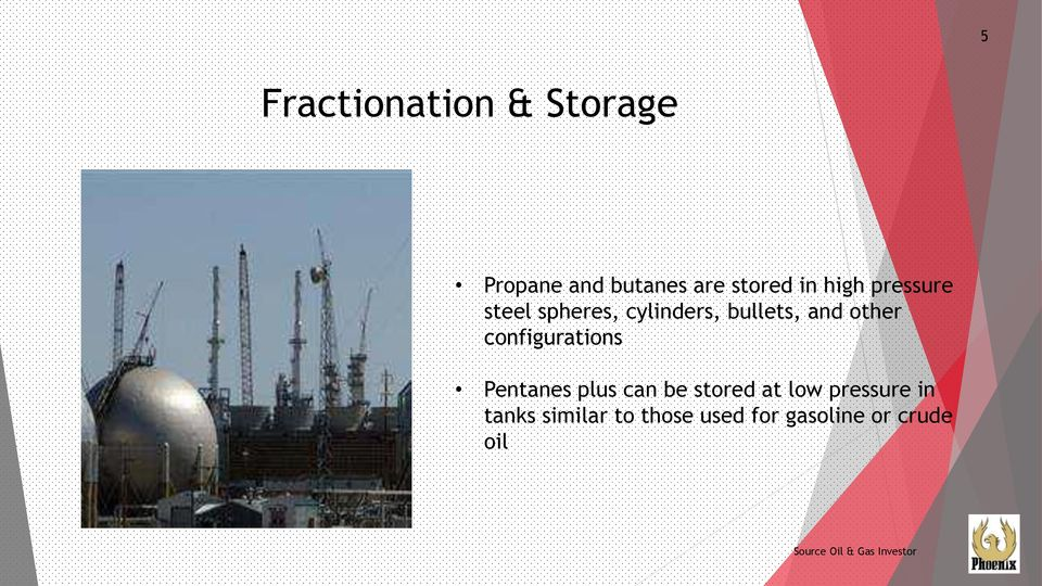 configurations Pentanes plus can be stored at low pressure in