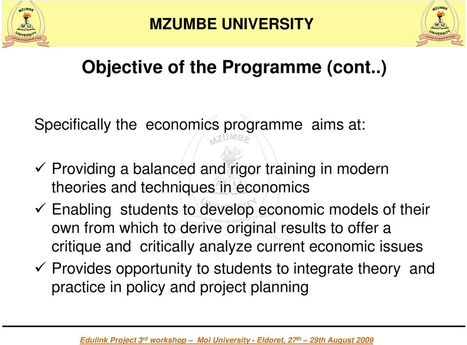 theories and techniques in economics Enabling students to develop economic models of their own from which