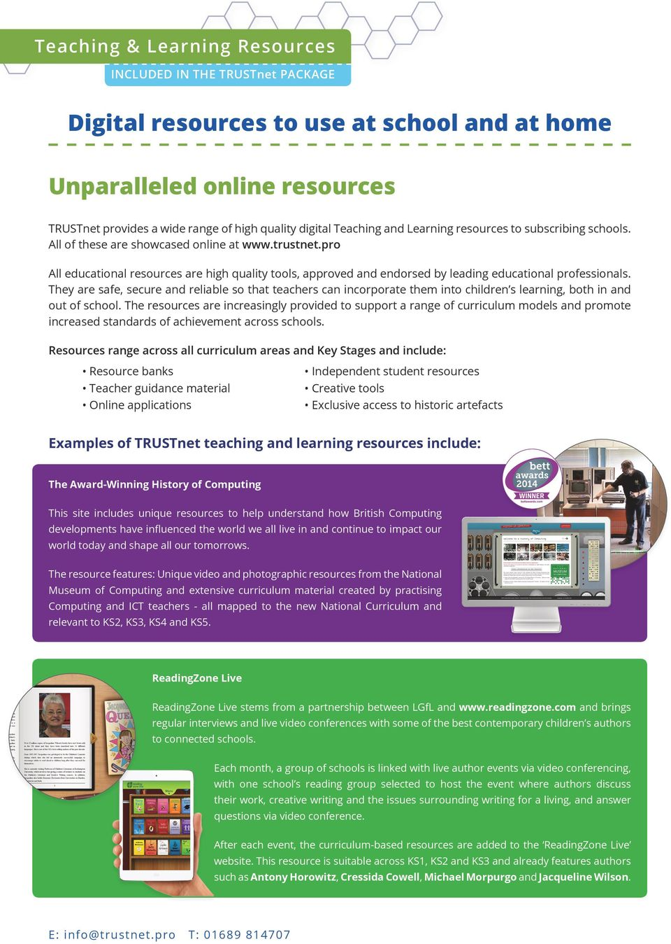 pro All educational resources are high quality tools, approved and endorsed by leading educational professionals.