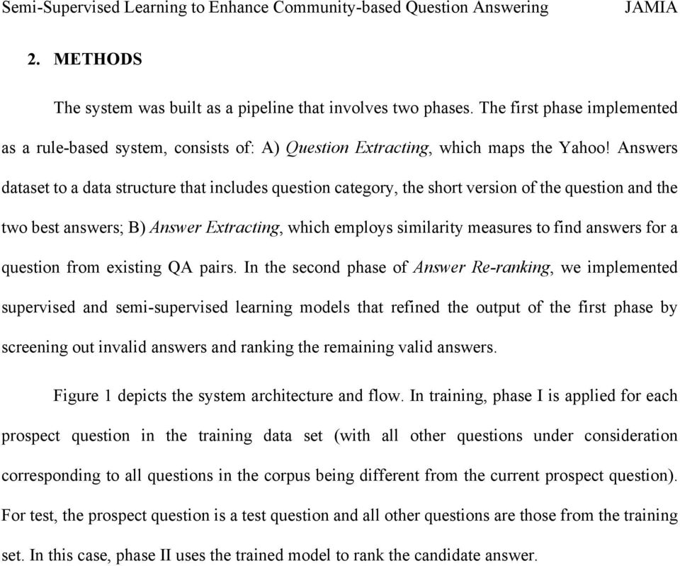 answers for a question from existing QA pairs.