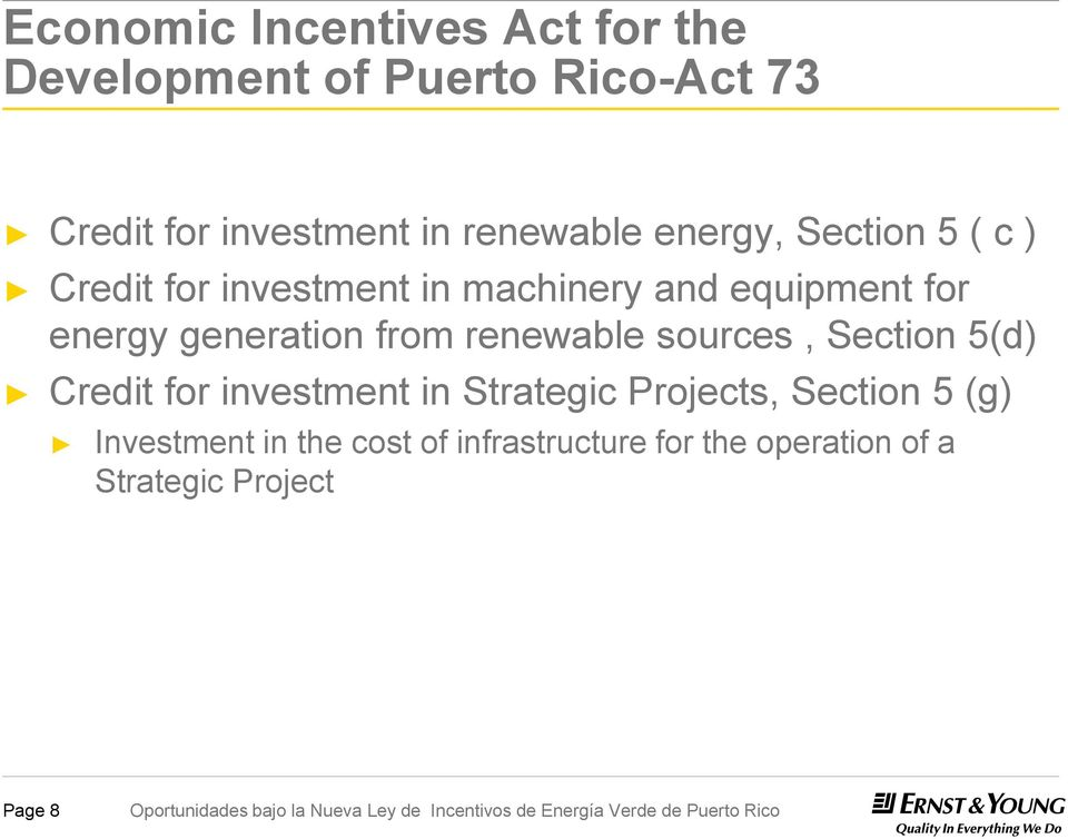 generation from renewable sources, Section 5(d) Credit for investment in Strategic Projects,