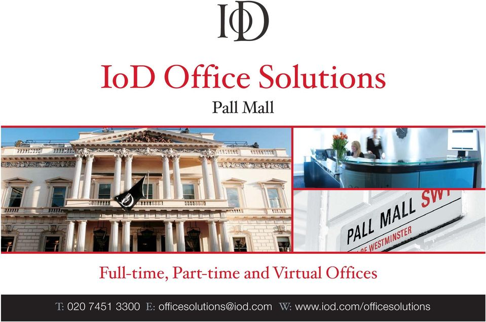 Offices T: 020 7451 3300 E: