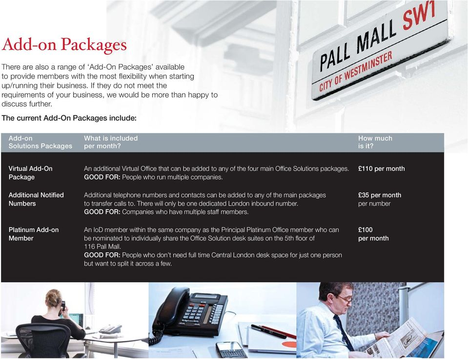 The current Add-On Packages include: Add-on What is included How much Solutions Packages per month? is it?